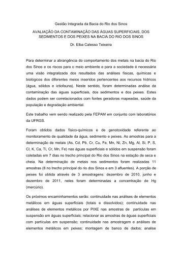 Gestão Integrada da Bacia do Rio dos Sinos AVALIAÇÃO ... - Feevale