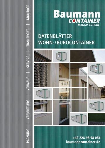 Datenblätter | Wohn-/Bürocontainer