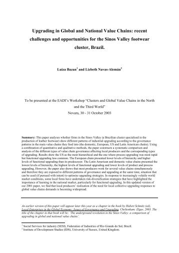 A study of industrial upgrading using global commodity chains