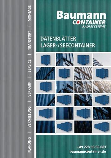 Datenblätter | Lager-/Seecontainer