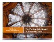 Photovoltaic Market in Romania 2012 - Globaltrade.net
