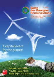 Anmeldung & BTB Salon des Energies Paris - Renewables Made in ...