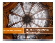 Photovoltaic Market in Romania 2012 - FRD Center - Globaltrade.net
