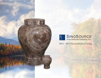 2012 - 2013 Memorialization Catalog - SinoSource International ...