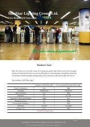 SinoStar Lighting Group Ltd. Ultra Bright LED Tube Light