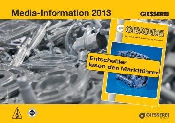 Media-Information 2013 - Giesserei Verlag