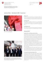 swissnex China – Jahresbericht 2010 – Kurzversion