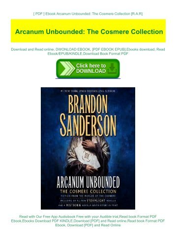 [ PDF ] Ebook Arcanum Unbounded: The Cosmere Collection [R.A.R]