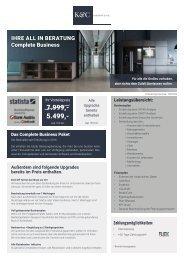 Korinth & Cie. Complete Business-Angebot