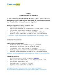 Covid-19-Testmöglichkeiten für Gäste (Turracher Höhe)