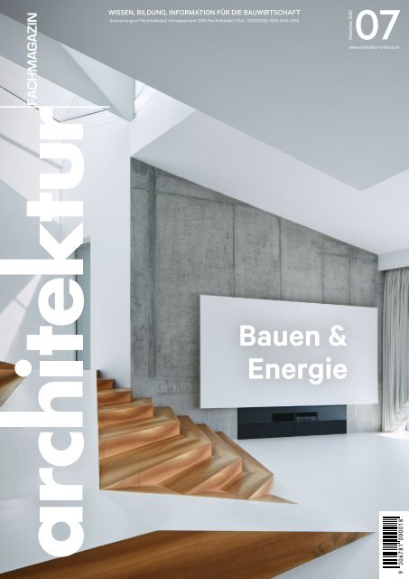 architektur Fachmagazin Ausgabe 7/2020