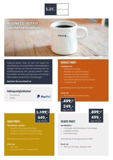 Korinth & Cie. Business-Outfit-Paket