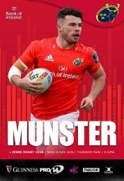 Munster Rugby v Zebre Rugby Match Programme