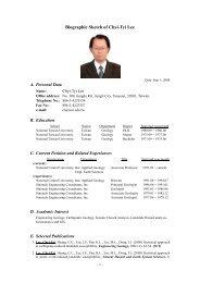Biographic Sketch of Chyi-Tyi Lee - PNC