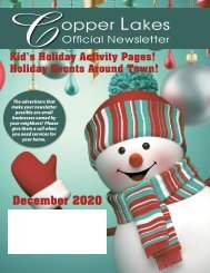 Copper Lakes December 2020