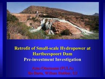 Retrofit of hydropower at Hartbeespoort Dam
