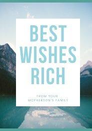 Best Wishes Rich