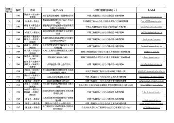 編號作者論文名稱學校/機關/聯絡地址/ E-Mail - 淡江大學土木工程學系