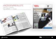 Mediadaten WM-Intern 2021 / Rate Card WM-Intern 2021