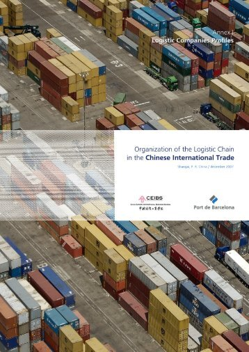 Organization of the logistic chain in the Chinese - China Europe ...