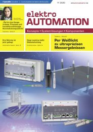 elektro AUTOMATION 11.2020