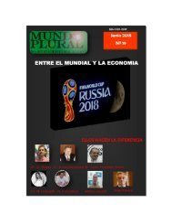 REVISTA MUNDO PLURAL JUNIO 2018