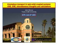 Anomalous transport in spin-orbit coupled systems ... - KITP Online