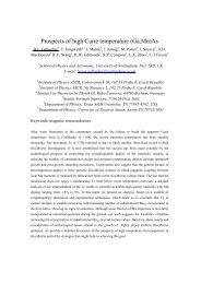 Prospects of high Curie temperature (Ga,Mn)As - Osaka University