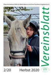 Vereinsblatt Herbst 2020