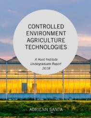 Controlled Environment Agriculture Technologies