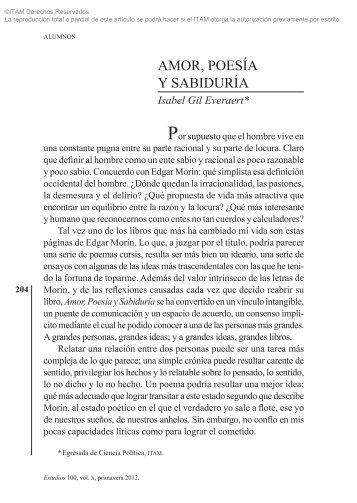 AMOR, POESÍA Y SABIDURÍA - Biblioteca - Itam