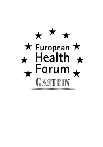 Congress report - European Health Forum Gastein