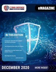 Cyber Defense eMagazine December 2020 Edition