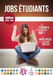 Brochure Jobs étudiants 2020-2021