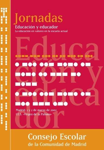 Jornadas Educación y educador. La educación en valores en la ...