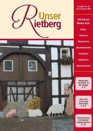 Unser Rietberg Ausgabe 18 vom 02. Dezember 2020