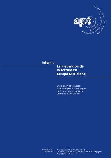 Informe La Prevención de la Tortura en Europa Meridional