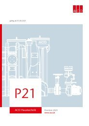ACO Österreich Preisliste 2021 - Gesamt