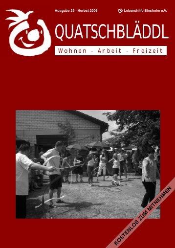 Ausgabe 25 - Kraichgau Werkstatt