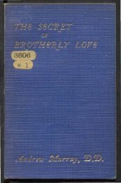 The Secret of Brotherly Love by Andrew Murray