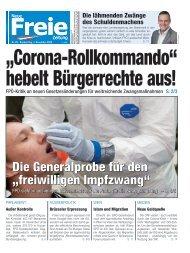 """Corona-Rollkommando"" hebelt Bürgerrechte aus!"