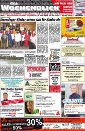 Lokales Vereirrsnachrichten Geschäftsmitteiiungen ... - Wochenblick