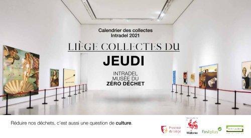 Calendrier des collectes des déchets 2021 du jeudi - Ville de Liège - Intradel