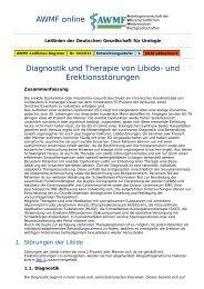 AWMF online - Leitlinien Urologie: Libido- und Erektionsstörungen