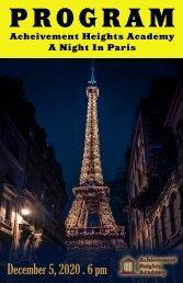 AHA: A Night In Paris Program