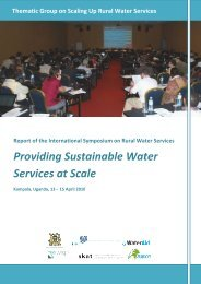 Group on Scaling Up Rural Water Services ... - Aguaconsult