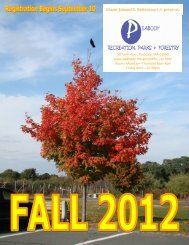 2012 Parks & Recreation Fall Programs - Peabody-ma.gov