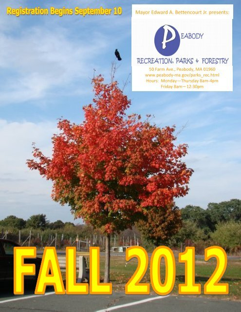 2012 Parks & Recreation Fall Programs - Peabody-ma.gov