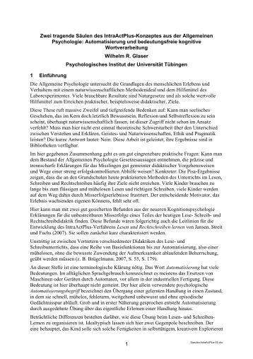 IntraActPlus-Konzeptes - Universität Tübingen