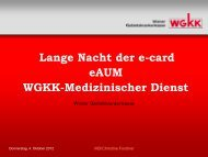 Vorteile eAUM - e-card